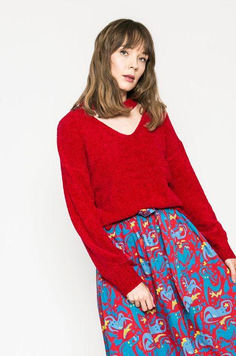Woman's Sweter damski Girl Power czerwony