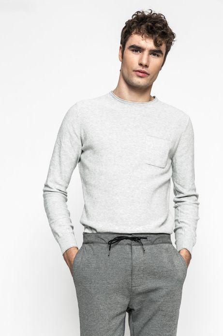 Sweter męski Slow Future szary