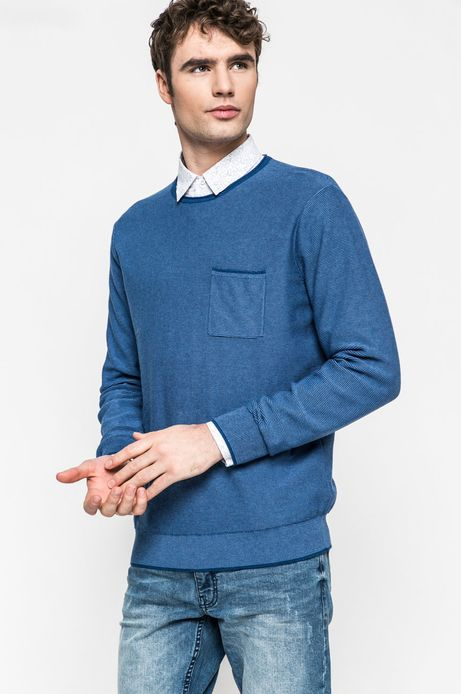 Sweter męski Slow Future niebieski