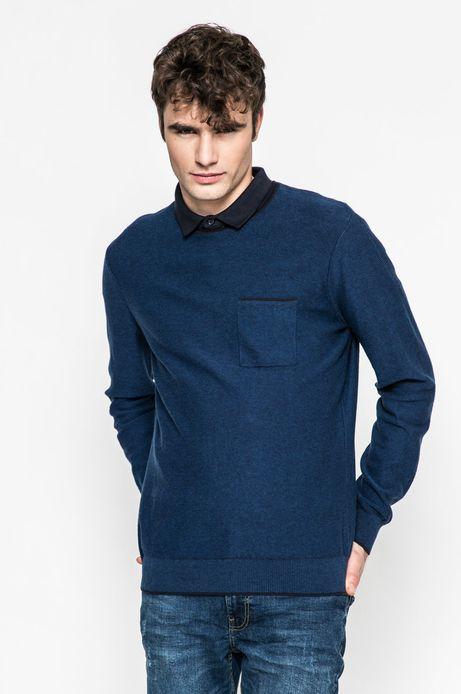 Man's Sweter męski Slow Future niebieski