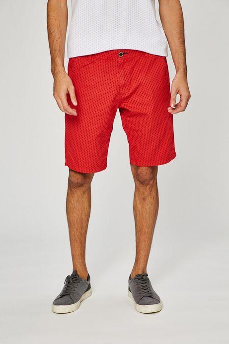 Man's Szorty męskie Basic czerwone