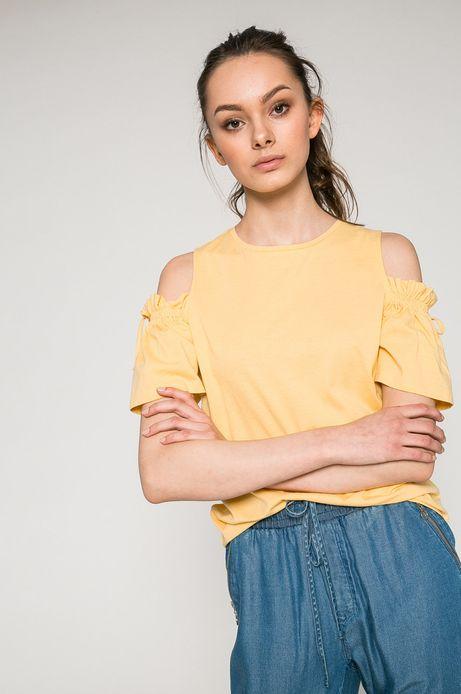 Top damski Basic żółty