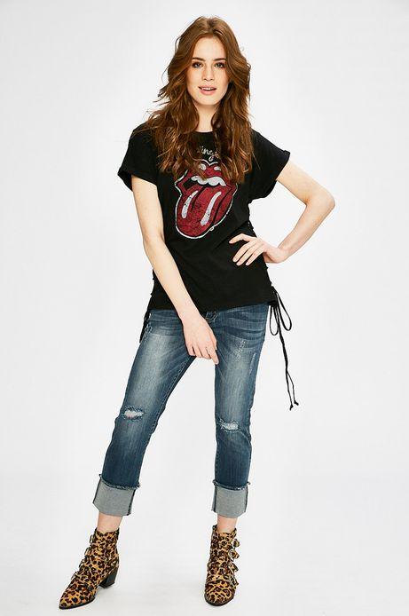 Top damski The Rolling Stones czarny