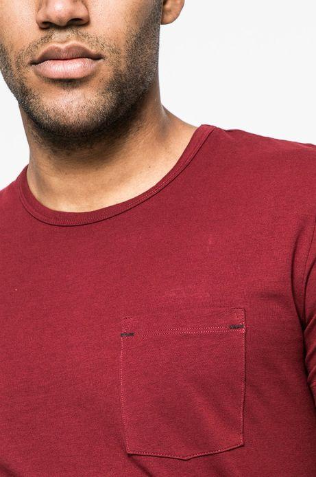 T-shirt męski Basic kasztanowy