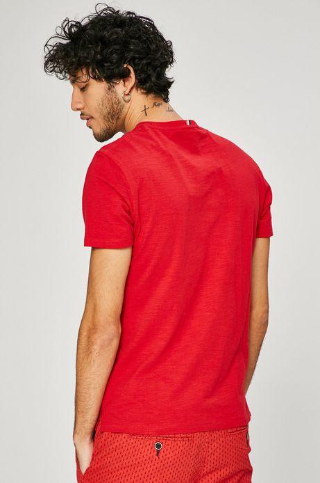 T-shirt męski Basic czerwony