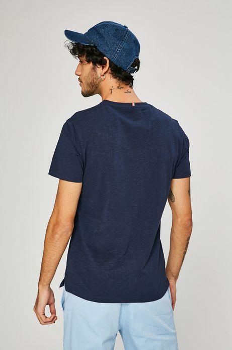 T-shirt męski Basic granatowy
