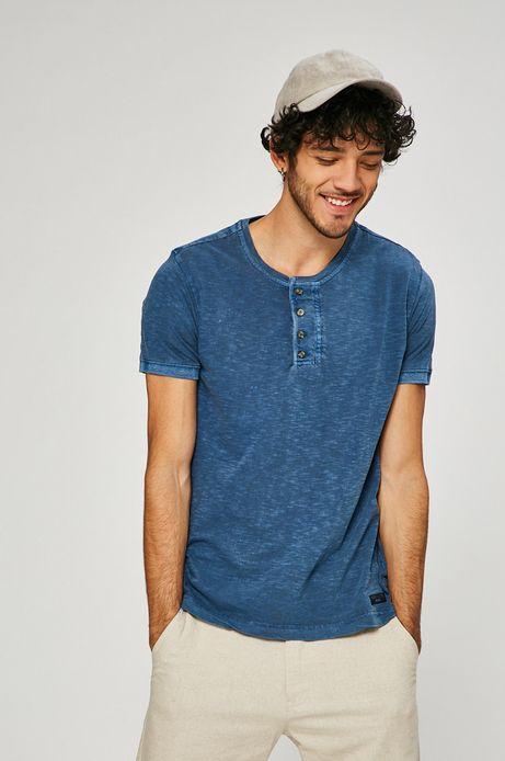 Man's T-shirt męski Basic niebieski