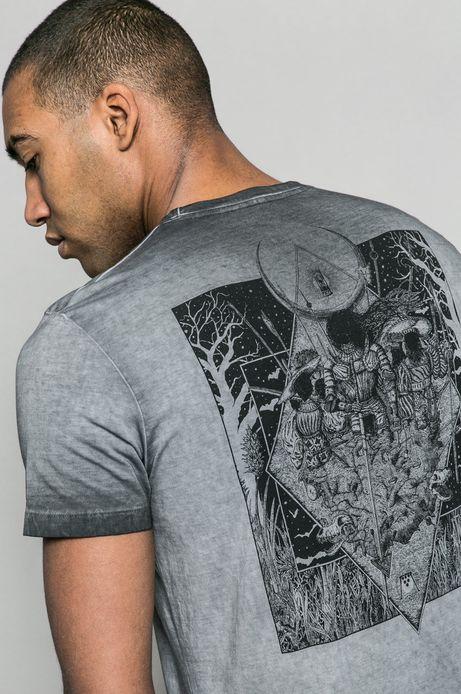T-shirt męski x Krzysztof Wroński for Medicine szary