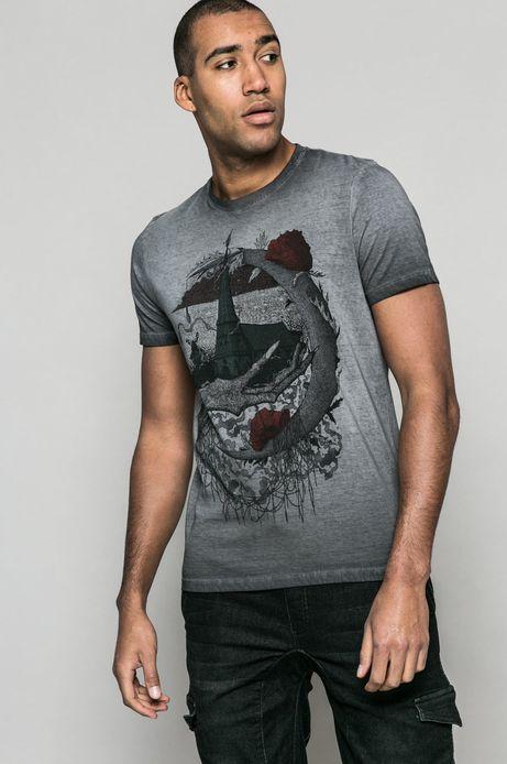 T-shirt Krzysztof Wroński for medicine szary