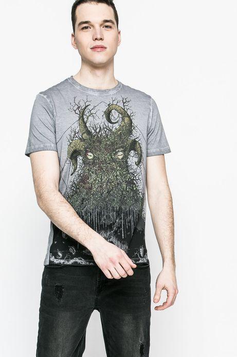 Man's T-shirt męski Krzysztof Wroński for Medicine szary
