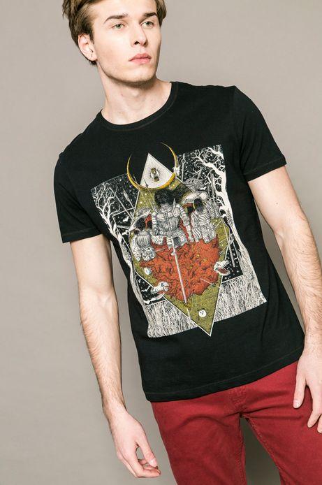 Man's T-shirt męski Krzysztof Wroński for Medicine czarny