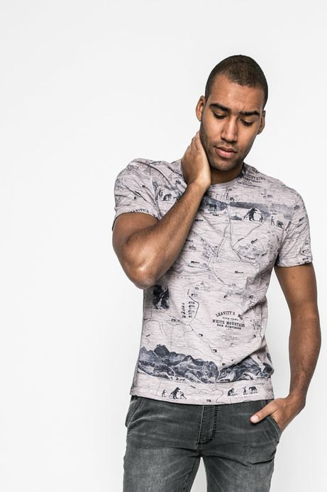 T-shirt męski City Rhythmes różowy