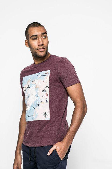 T-shirt męski City Rhythmes brudny róż