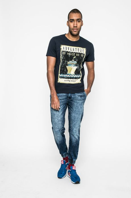 T-shirt męski City Rhythmes granatowy