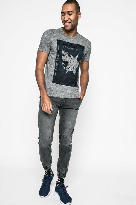T-shirt męski City Rhythmes szary