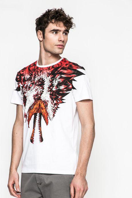 Man's T-shirt męski Joanna Krótka for Medicine biały