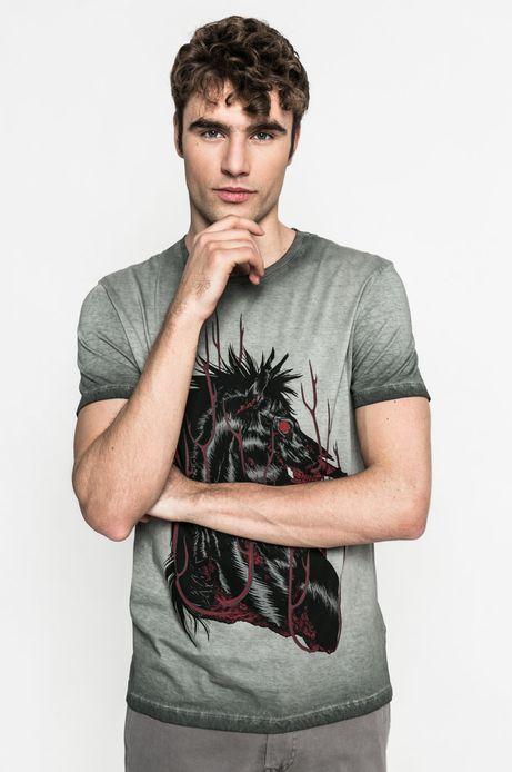 Man's T-shirt męski Joanna Krótka for Medicine szary