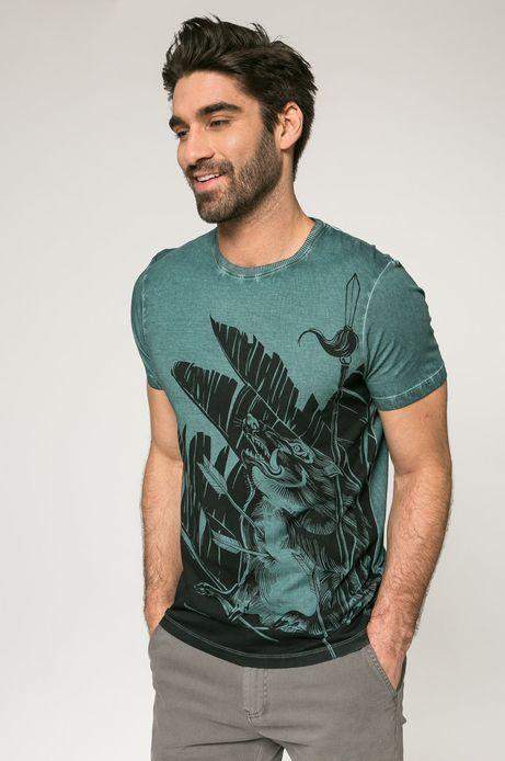 Man's T-shirt męski City Jungle zielony
