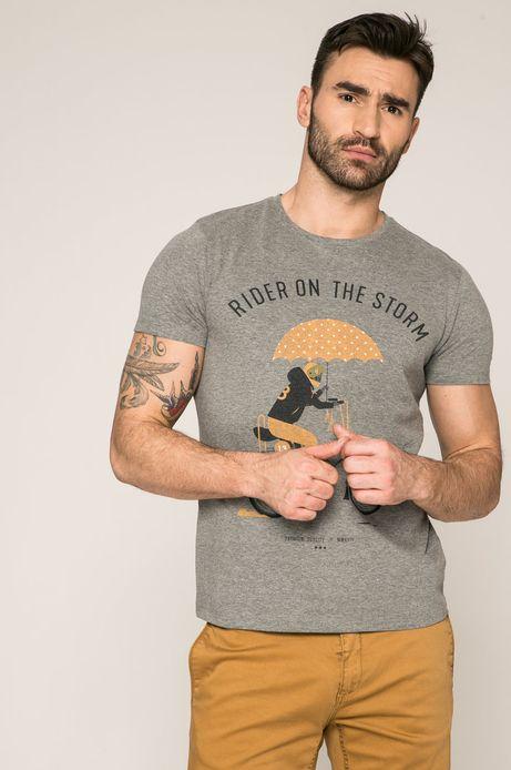 Man's T-shirt męski Dawid Ryski for Medicine szary
