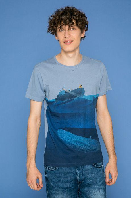 Man's T-shirt męski Marcin Wolski for Medicine niebieski