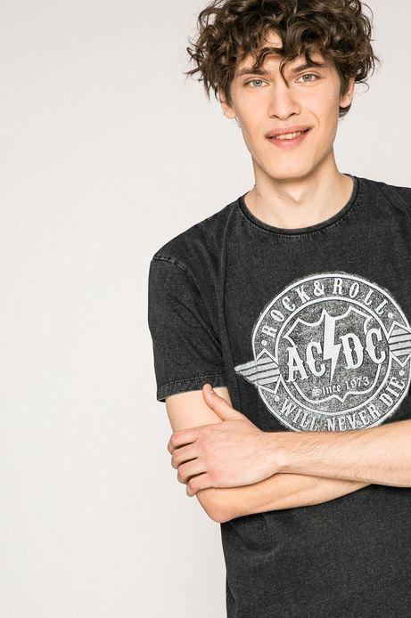 T-shirt męski AC/DC czarny