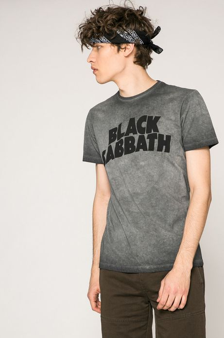 T-shirt męski Black Sabbath szary