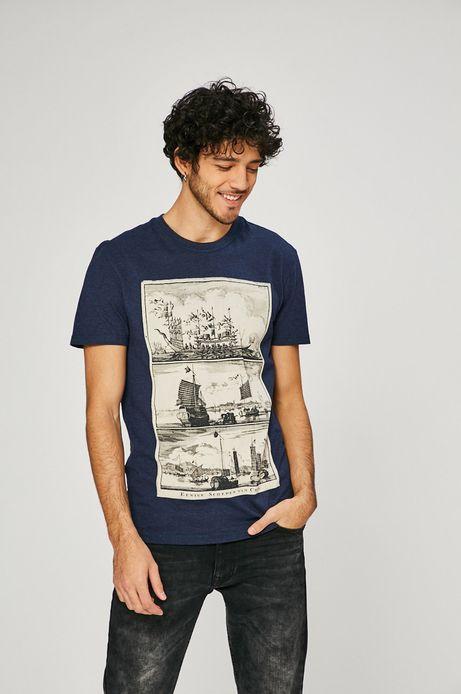T-shirt męski On The Go granatowy