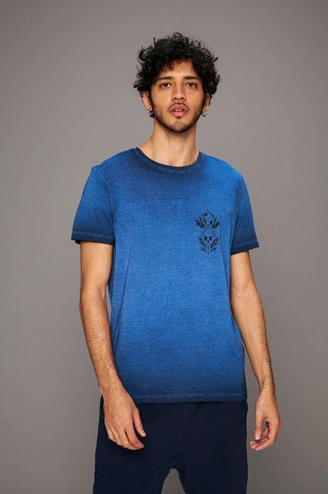 Man's T-shirt męski by Piotr Bemben, Tattoo Konwent granatowy