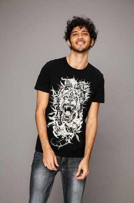 Man's T-shirt by Piotr Bemben, Tattoo Konwent czarny