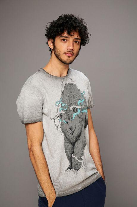 Man's T-shirt męski Kamil Szczypczyk for Medicine szary