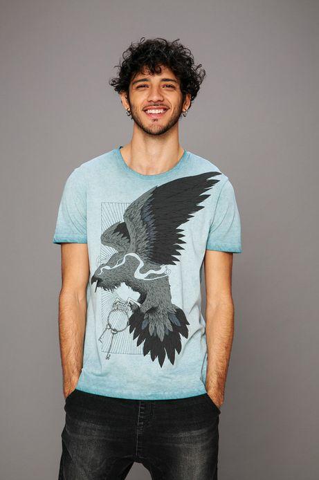 Man's T-shirt by Kamil Szczypczyk niebieski