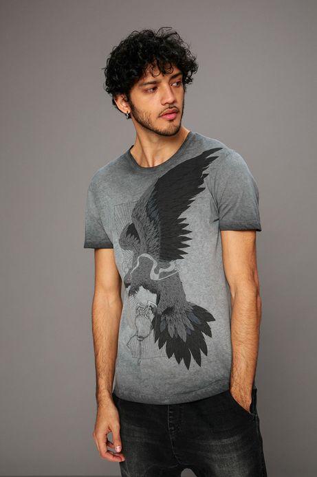 Man's T-shirt by Kamil Szczypczyk szary