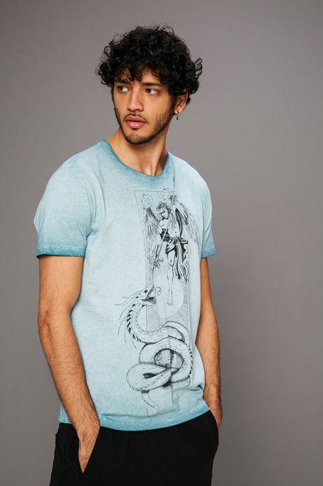 Man's T-shirt męski Kamil Szczypczyk for Medicine niebieski