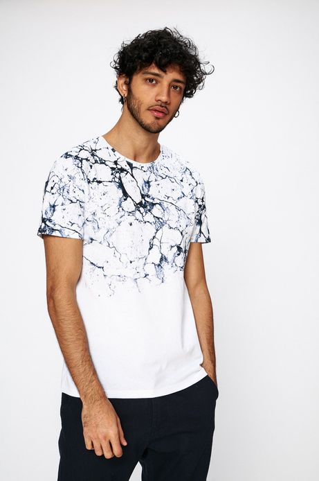 Man's T-shirt męski Traveller biały