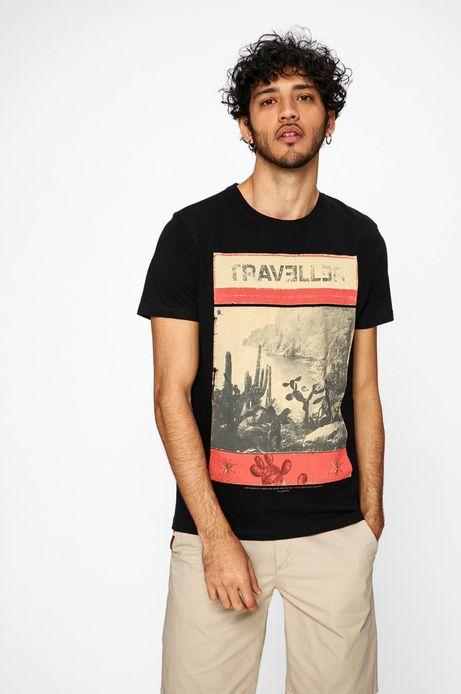 Man's T-shirt męski Traveller czarny