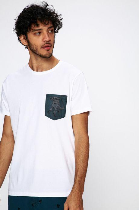 T-shirt Antoni Kuźniarz for Medicine biały