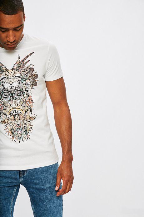 Man's T-shirt męski African Roots biały