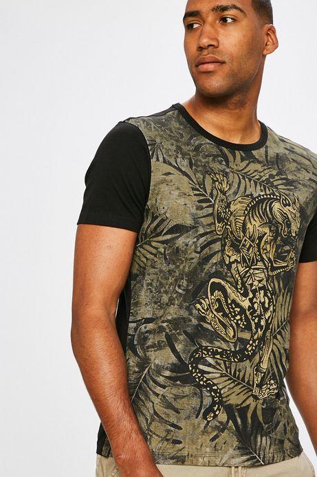 Man's T-shirt męski African Roots czarny