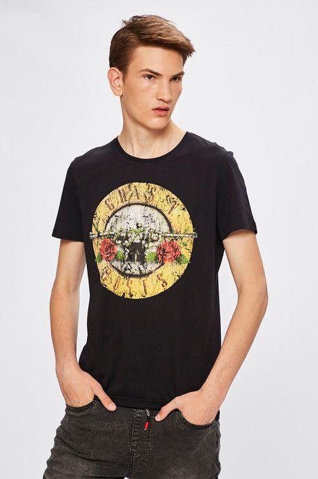 Man's T-shirt męski Desert Grunge, Guns N Roses czarny