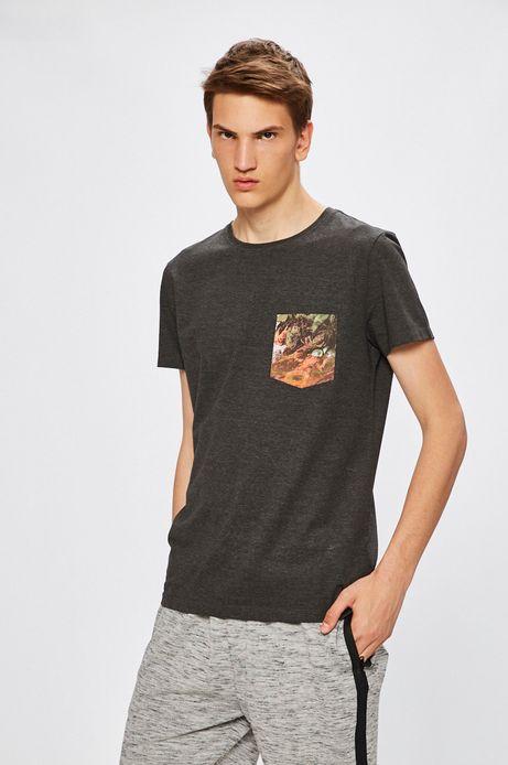 Man's T-shirt męski by Medziński, Grafika Polska szary