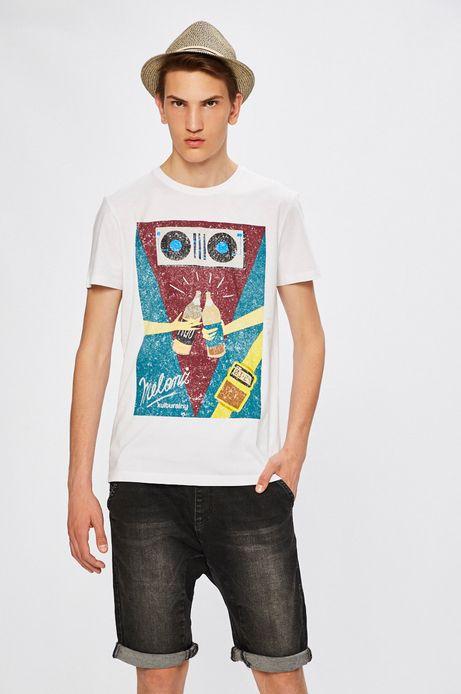 Man's T-shirt by Justyna Frąckiewicz, Grafika Polska biały