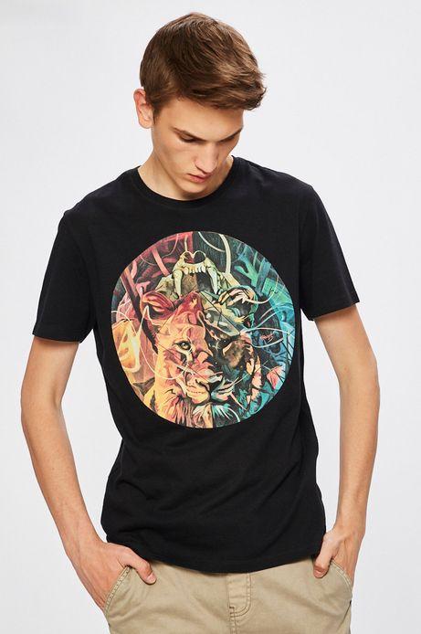 Man's T-shirt by Mateusz Twardoch, Grafika Polska czarny