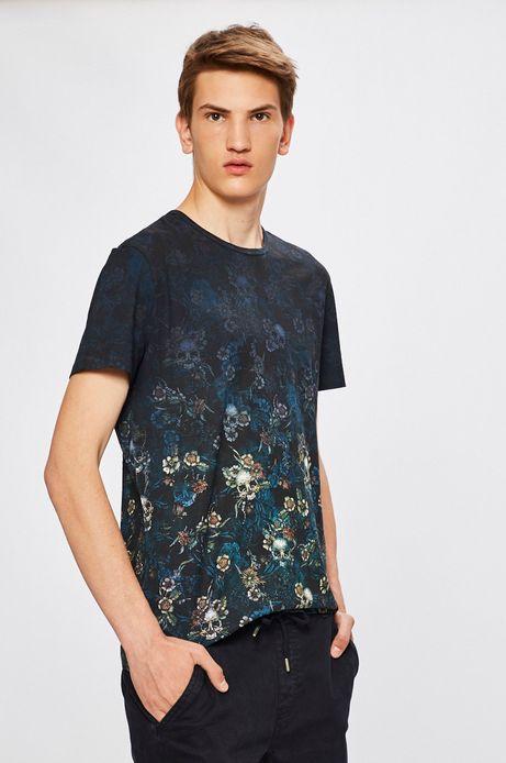 Man's T-shirt męski Desert Grunge granatowy
