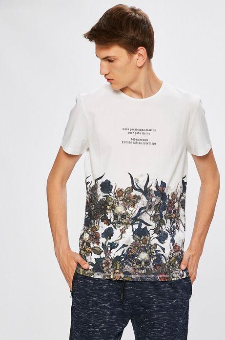 Man's T-shirt męski Desert Grunge biały