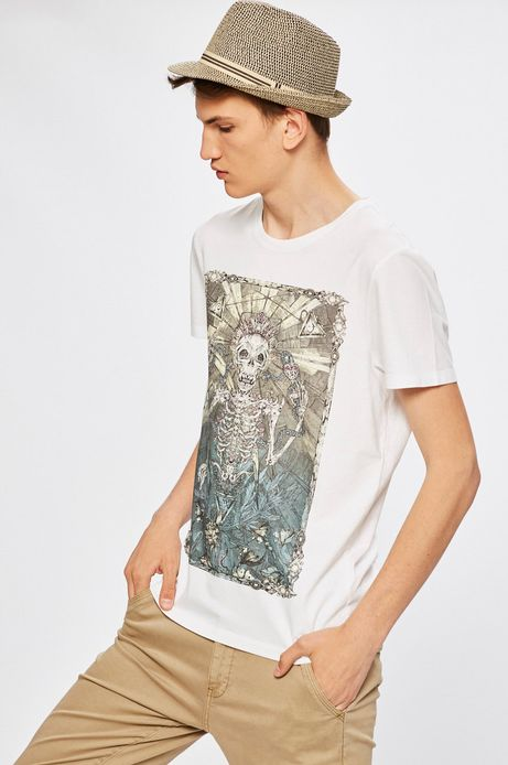 Man's T-shirt Desert Grunge biały