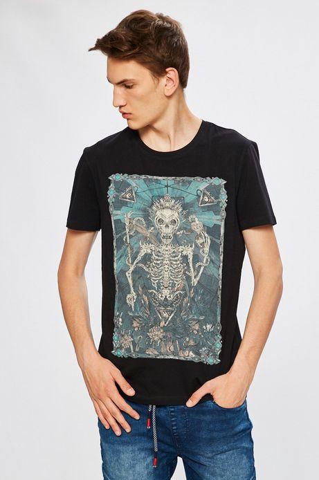 Man's T-shirt męski Desert Grunge czarny
