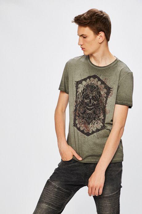 Man's T-shirt Desert Grunge szary