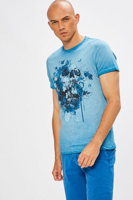 Man's T-shirt Desert Island niebieski