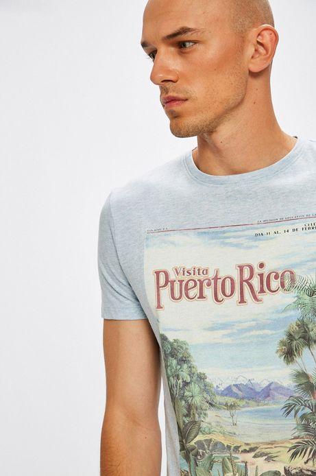 T-shirt Desert Island niebieski