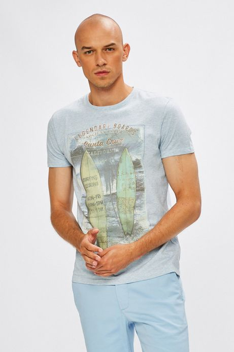 Man's T-shirt męski Desert Island niebieski